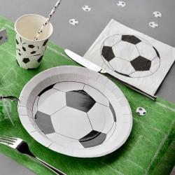 Servietter fodbold sort hvid borddækning