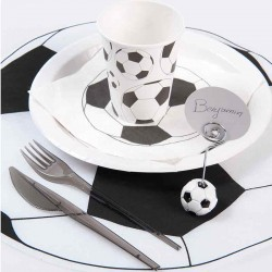 Servietter fodbold sort hvid fodboldfest