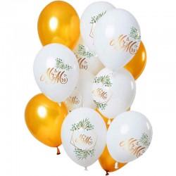 ballon sæt bryllup mr & mrs. 12 stk