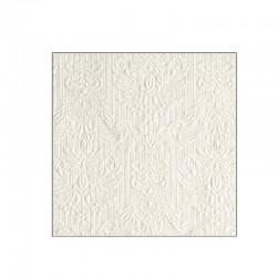 Hvid perlemor kaffeserviet elegance. 25 x 25 cm. 15 stk