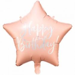 folie ballon lys pink happy birthday. 40 cm