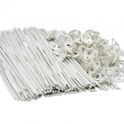 hvide bionedbrydelige ballonpinde. 100 stk