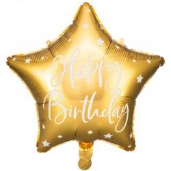 folie ballon guld happy birthday. 40 cm