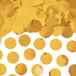 Guld metallic konfetti rund 15 g