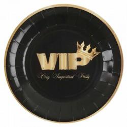 Sort VIP paptallerkner 10 stk