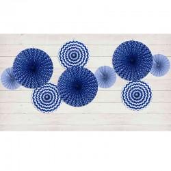 Festpynt flotte blå vifter - roset