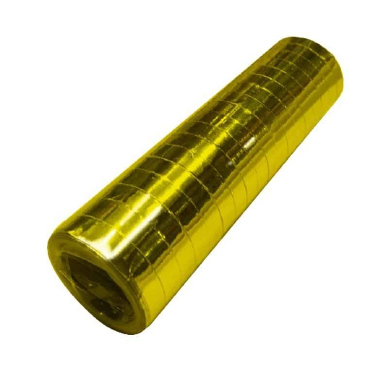 metallic guld serpentiner. 1 stk