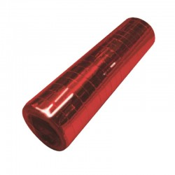 metallic rød serpentiner. 1 stk