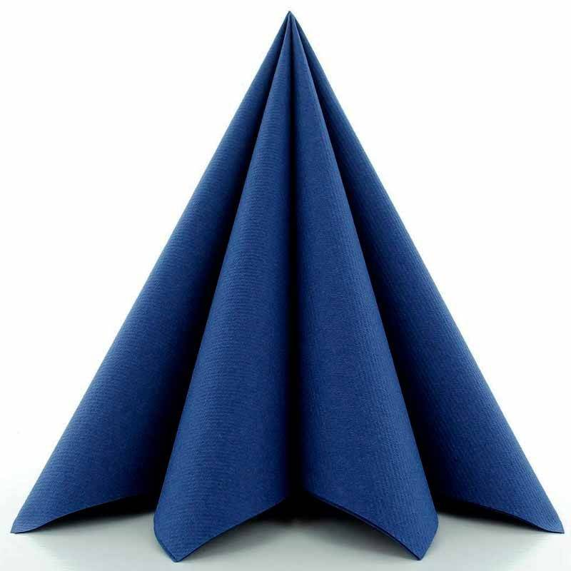airlaid tekstilservietter blå 40 x 40 cm. 25 stk