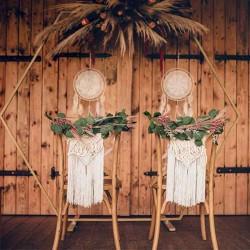rustik bryllupspynt kunstig eukalyptus guirlande