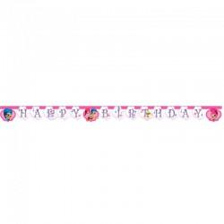 happy birthday banner shimmer & shine 1 stk.