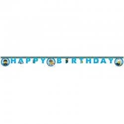 lego city  fødselsdags banner. 1 stk