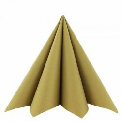 Airlaid Tekstilservietter Guld 40 x 40 cm - 50 stk