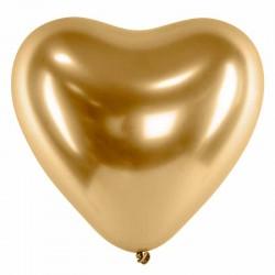 guld hjerte balloner 30 cm. 50 stk
