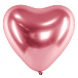 rose gold hjerte balloner 30 cm. 50 stk