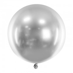 sølv chrom ballon 60 cm