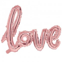 Love Folieballon Rose Gold