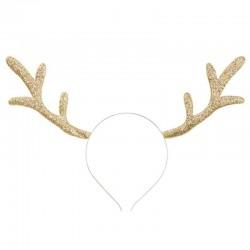 rensdyr hårbøjle guld. 34.5 x 22 cm