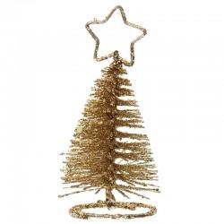 bordkortholder guld juletræ. 1 stk