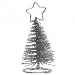 bordkortholder sølv juletræ. 1 stk
