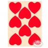 Oblater store hjerter røde. 16 stk