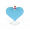 Hjerte bordkort lyseblå. 10 stk.