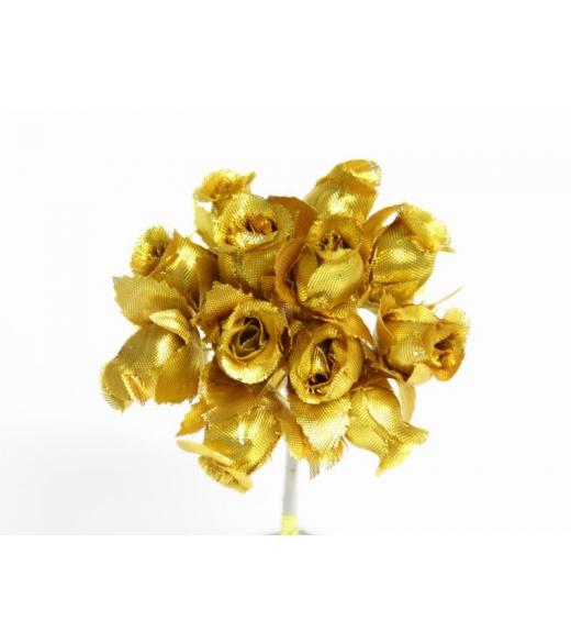 Mini rosenknop guld