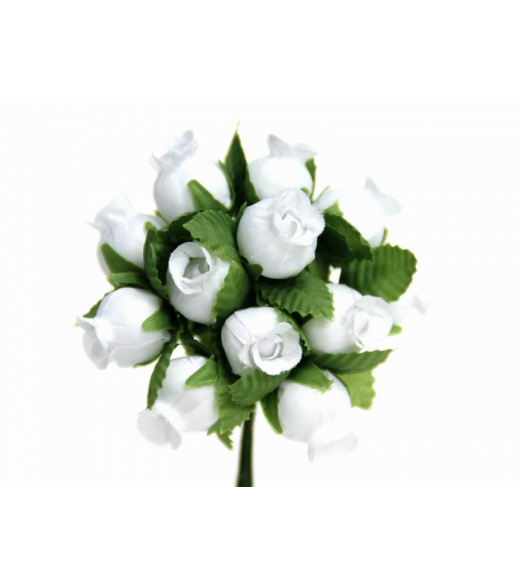 Mini Rosenknop hvid
