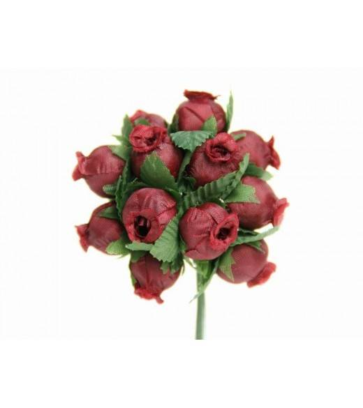 Mini rosenknop mørkerøde