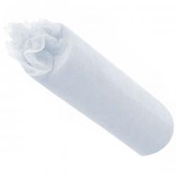 Hvid bordløber tyl 30 cm x 9 m