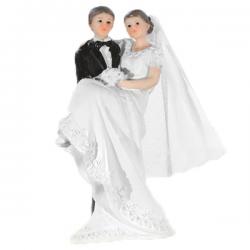 Topfigur gommen bærer bruden