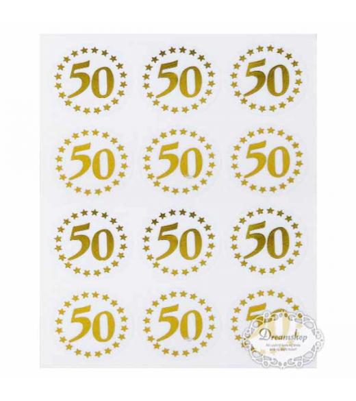 Oblater 50 År Guld. 24 stk