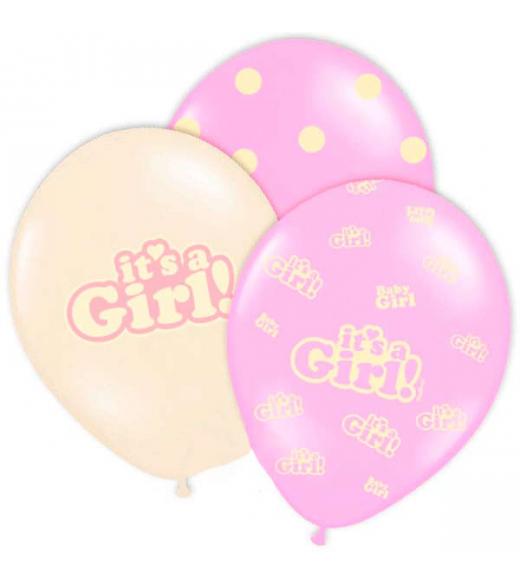 Balloner it's a girl 6 Stk