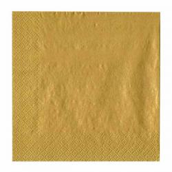 Guld frokostserviet. 33 x 33 cm.