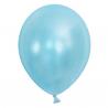 Ballon metallic lyseblå. 10.Stk.