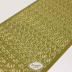 Guld Bogstaver A-Å 10 mm