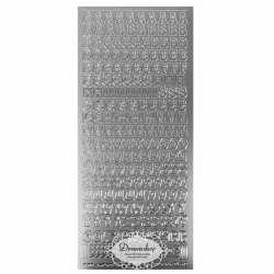 Bogstaver sølv A-Å 10 mm