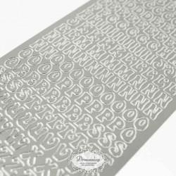 Sølv Bogstaver A-Å 10 mm