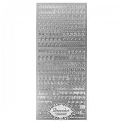Sølv stickers bogstaver 10 mm