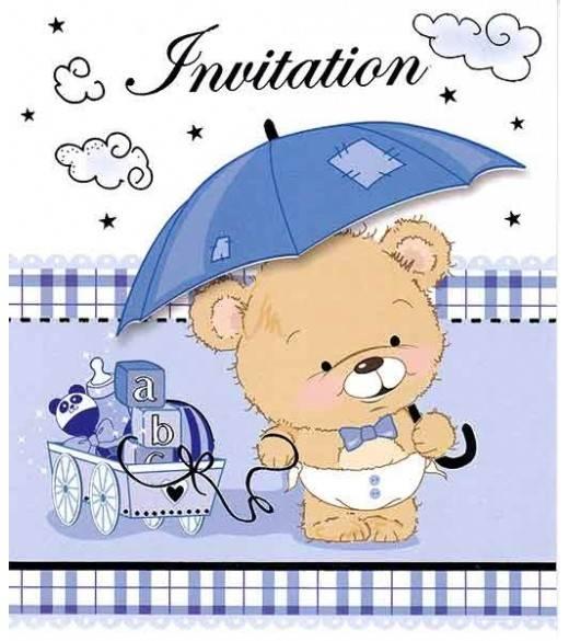 Invitationer drenge barnedåb