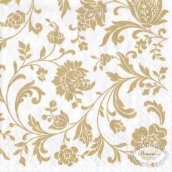 Kaffeserviet hvid med guld mønstre