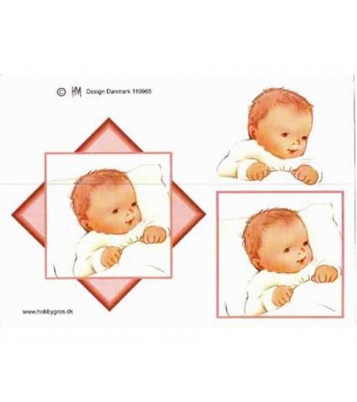 Baby motiver pige, 3D ark