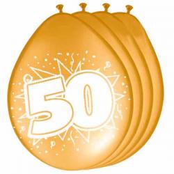 Ballon metallic guld 50. 8 Stk