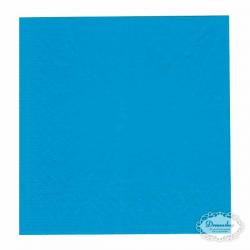 Turkisblå frokostservietter. 33 x 33 cm