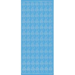 Stickers sut lyseblå