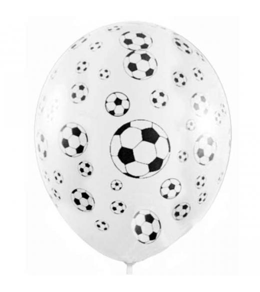 Balloner med fodbolde 6 Stk