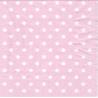 Frokostserviet lyserød hvide prikker