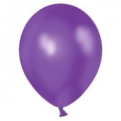 Ballon metallic mørkelilla. 10 Stk