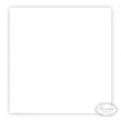 Hvid frokostserviet. 33 x 33 cm