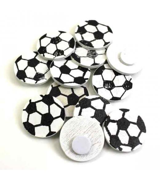 Fodbold hvid med sorte felter